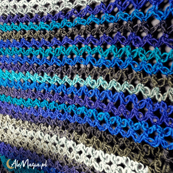 08 / Chusta Handmade / Morska Toń / M01 / AleMagia.pl