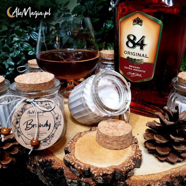 08 / Świeczka Sojowa / Brandy / 60 g / AleMagia.pl